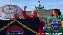 02.10.2021 | Proteste gegen Präsident Jair Bolsonaro in Berlin