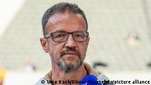 Fredi Bobic, Olympiastadion, Hertha BSC vs SC Freiburg, DFL REGULATIONS PROHIBIT ANY USE OF PHOTOGRAPHS AS IMAGE SEQUENCES AND/OR QUASI-VIDEO, 02.10.21, Foto: Uwe Koch/Eibner-Pressefoto