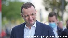 Jens Spahn (CDU), Bundesminister für Gesundheit, kommt zur Vorbereitung von Sondierungsgesprächen zwischen der CDU und der FDP am Konrad- Adenauer Haus an.