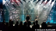 Estonian-Russian band Rainday Station performing on stage.