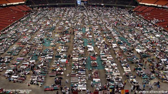 Flüchlinge nach dem Hurrikan Katrina (Foto: dpa)