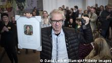 Swedish artist Lars Vilks known for his drawing of the prophet Muhammed is awarded with the Danish 'freedom of the press' award on March 14, 2015 in Copenhagen. AFP PHOTO / SCANPIX DENMARK / David Leth Williams +++DENMARK OUT (Photo credit should read DAVID LETH WILLIAMS/AFP via Getty Images)
