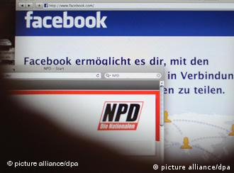 A screen shot of facebook and the NPD