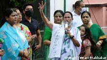 BHOWANIPORE, KOLKATA, 03-10-2021+++West Bengal Chief Minister and TMC Candidate Mamata Banerjee speaking to public and media at her residence after victory in Bhowanipore Bypoll on Sunday.