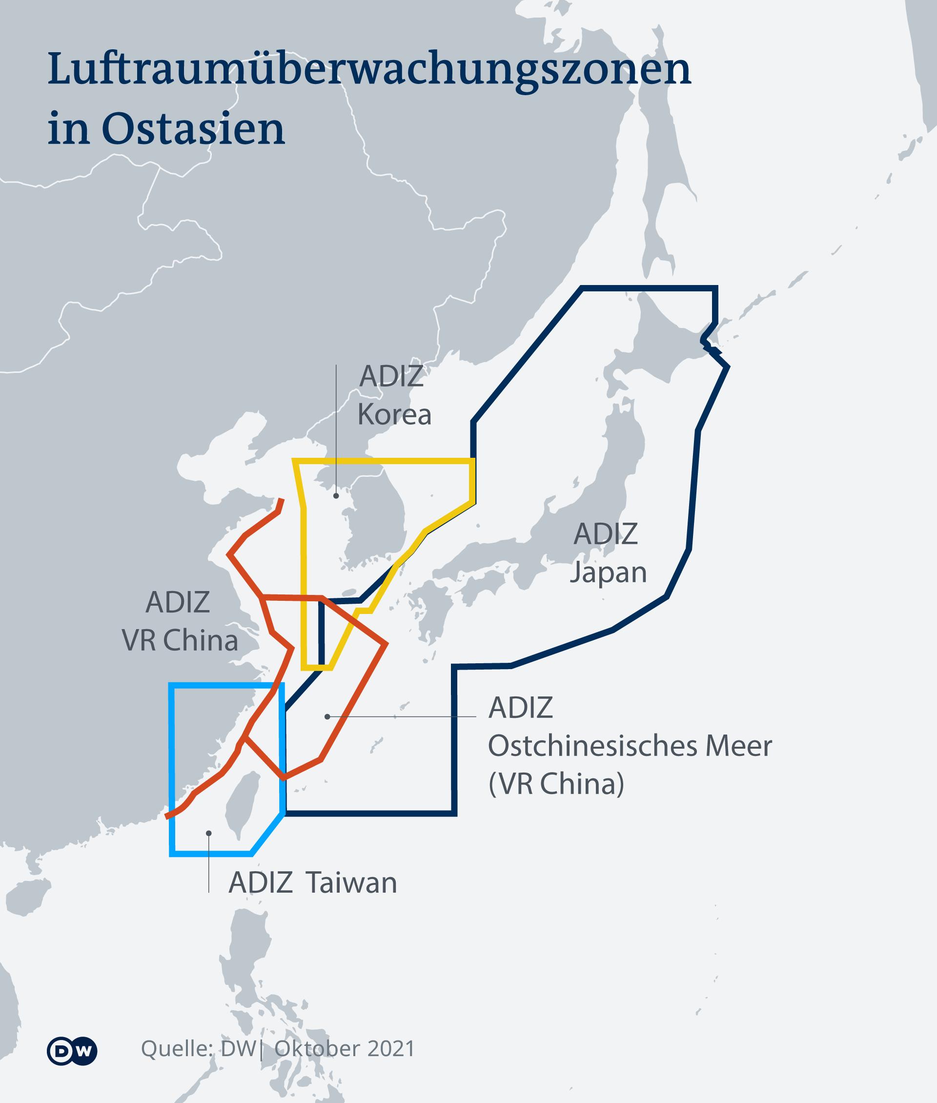 Infografik Luftraumüberwachung Ostasien DE