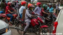 App-based motorcycle ride-sharing services is popular in Dhaka, Bangladesh. But it has some problems also. Drivers often face police harassment and passengers also face harassment from motorcycle drivers.