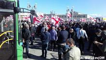 Rustavi, Georgien, 2021+++Mehrere tausend Menschen haben sich am Montag 04.10.2021 vor dem Gefängnis von Rustavi nahe der Hauptstadt Tiflis versammelt, wo der ehemalige georgische Präsident Micheil Saakaschwili inhaftiert ist. Sie fordern seine Freilassung.