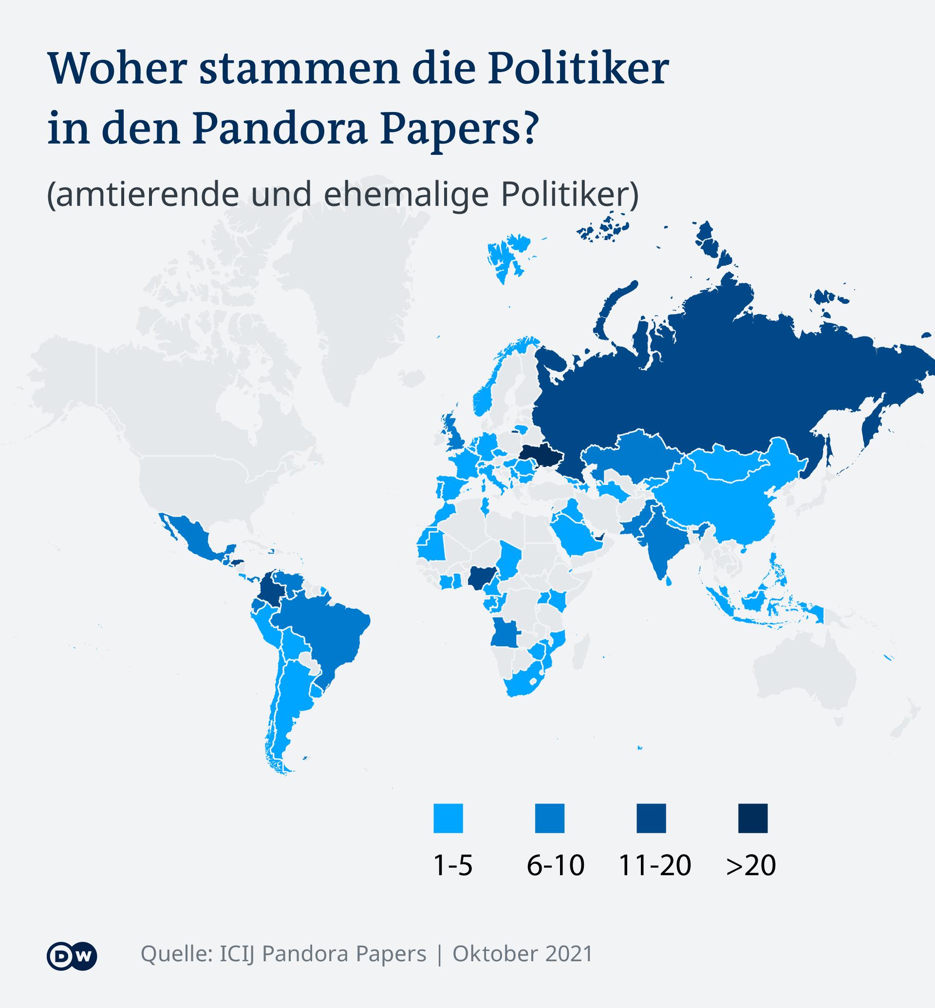 Infografik Pandora-Paper Karte DE