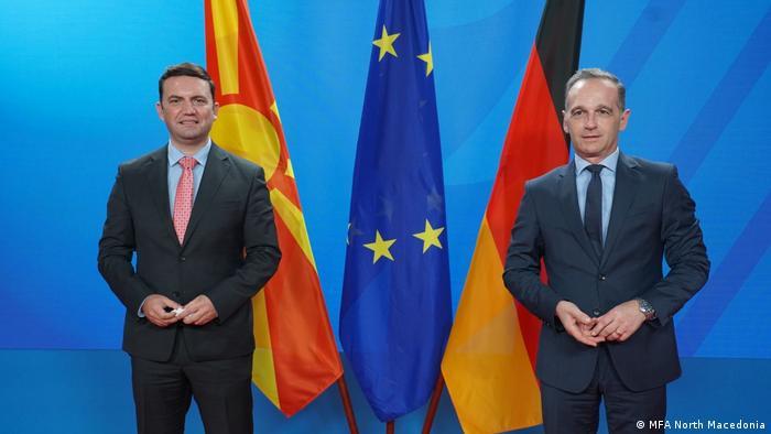 Berlin | Treffen Außenminister von Deutschland und Nordmazedonien Heiko Maas und Bujar Osmani