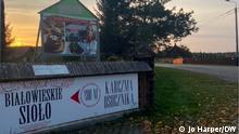 4.10.2021*** Polen l Dorf Budy nahe der Belarussischen Grenze Restaurant