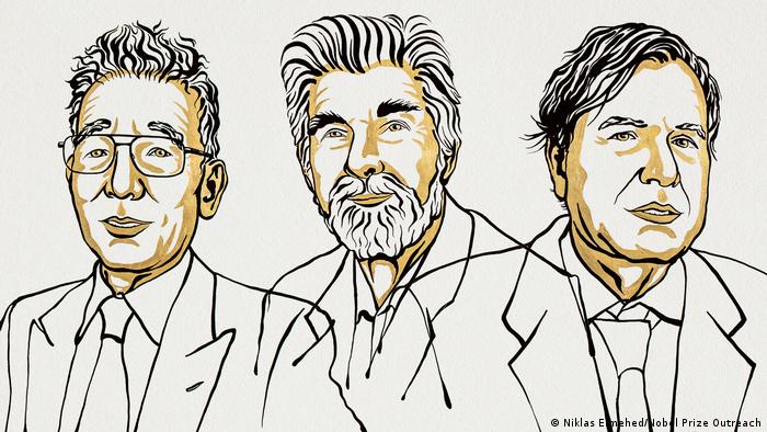 The 2021 winners of the Nobel Prize in Physics: Syukuro Manabe, Klaus Hasselmann and Giorgio Parisi
