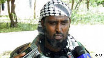 Sheik Ali Mohamud Rage, a spokesman for the al-Shabab militia,Tuesday, Aug. 24, 2010, in Mogadishu, Somalia who said that members of the group's special forces had carried out the attack against those aiding the infidels. Scores of people were killed during the attack. (AP Photo/Mohamed Olad Hassan)