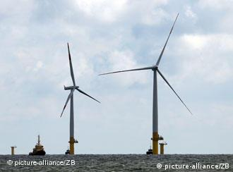Offshore-Windpark EnBW Baltic 1 im Bau