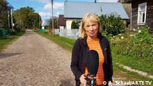 Oktober 2021, Belarus, Ulrike Dässler, Journalistin, ARTE. Sie wurde an der polnisch - belarussischen Grenze festgenommen, weil sie ungewollt in die Region des dort verhängten Ausnahmezustands gelangte. Copyright ARTE TV.