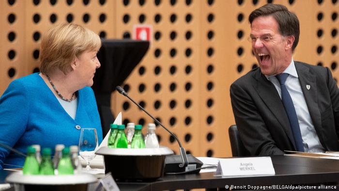 Kanzlerin Angela Merkel und der niederländische Regierungschef Mark Rutte