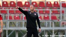 Blagoja Milevski- Nationaltrainer der Fußballnationalmannschaft von Nordmazedonien Skopje, 04.10.2021 Petr Stojanovski