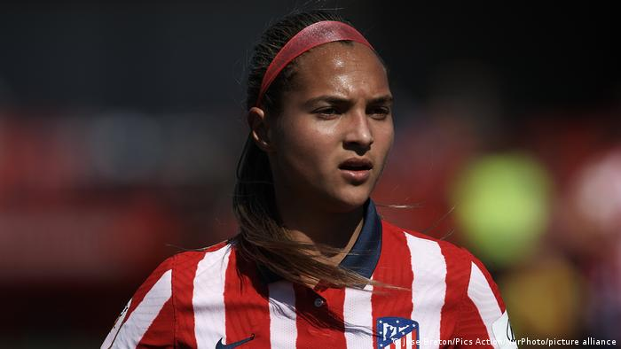 Atletico Madrid's Deyna Castellanos was among the players speaking out against sexual misconduct in women's football