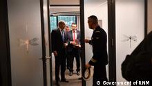 Gemeinsames Treffen der deutschen Bundeskanzlerin Angela Merkel, der französischen und bulgarischen Präsidenten Emanuel Macron und Rumen Radev sowie des mazedonischen Premierministers Zoran Zaev in Brdo, Slowenien. Brdo, 06.10.2021 Rechte: Government of RNM