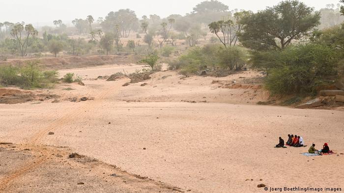 Ausgetrockneter Zufluss zum Niger