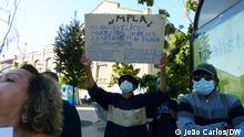 Protest in Lissabon gegen die MPLA, die Regierungspartei in Angola am 06.10.21 in Portugal.