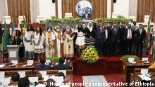 The new council of ministers of Ethiopia. Schlagworte Ethiopia, Äthiopien,Addis Abeba . Datum 061021 Fotograf House of people's representative of Ethiopia