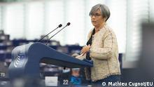 6.10.2021, Strassburg, Frankreich, EP Plenary session - The future of EU-US relations, Frankreich Isabel Santos im EU-Parlament in Strassburg
