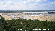 06.08.2021 Tesla - Baustelle des neuen Werks in Gruenheide, 06.08.21, Foto: Uwe KOCH/Eibner-Pressefoto