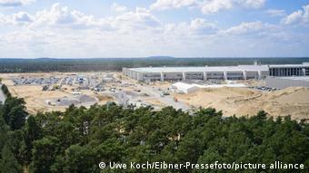 Deutschland Grünheide | Baustelle Teslafabrik