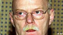 A photo dated Jan. 9, 2002 of German Social Democratic Party (SPD) faction leader Peter Struck in Berlin. Following the sacking of German Defense Minister Rudolf Scharping over revelations that he accepted royalties from a public relations adviser, Chancellor Schroeder said Thursday, July 18, 2002 that Peter Struck would replace Scharping. (AP PHOTO/Fritz Reiss, Pool)