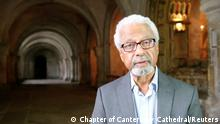 Abdulrazak Gurnah reads for a Canterbury Cathedral project in Canterbury, Britain June 2021, in this screen grab obtained from a social media video. Video recorded in June 2021. CHAPTER OF CANTERBURY CATHEDRAL/via REUTERS THIS IMAGE HAS BEEN SUPPLIED BY A THIRD PARTY. MANDATORY CREDIT. NO RESALES. NO ARCHIVES.