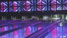 DW Sendung Euromaxx KW40 Room Division, Lichtkunst, Bowlingbahn, Berlin, Club