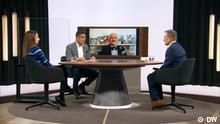 Sendung: Auf den Punkt (ara) Sendedatum: 07.10.2021 Berlin, 07.10.2021+++Boris Johnsons Brexit: Steuert Großbritannien ins Chaos? (c) DW Rechte: Frei (dw-eigene Produktion)