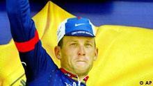 Lance Armstrong gewinnt die elfte Etappe bei der Tour de France 2002