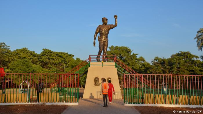 Statue of Thomas Sankara in Ouagadougou, Burkina Faso