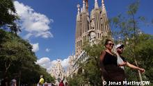Barcelonas meistbesuchte Attraktion ist die Basilika Sagrada Família. Foto: Jonas Martiny/DW Sept. 2021