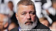 SOCHI, RUSSIA - OCTOBER 3, 2019: Novaya Gazeta founder Dmitry Muratov attends the plenary session of the 16th annual meeting titled The Dawn of the East and the World Political Order and held by the Valdai Discussion Club at Polyana 1389 Hotel. Mikhail Metzel/TASS ( Dmitri Muratow )