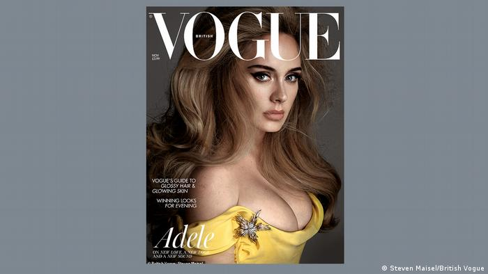 Adele on the cover of Vogue UK