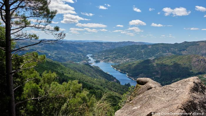 A wide view of the Peneda-Gerers-National Park in Portugal