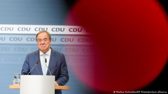 North Rhine-Westphalian State Premier and CDU/CSU chancellor candidate Armin Laschet