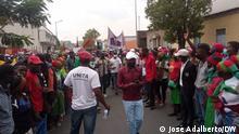 Autor: José Adalberto - DW Korrespondent Ort: Huambo; Angol Themen: Protestierenden in Huambo gegen der Regierung Keywords: Protesten, Angola, Huambo, MPLA; UNITA; Regierung