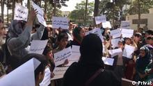 (Frauen protestieren in Kabul) Einige Frauen protestierten am Samstag in Kabul, der Hauptstadt Afghanistans, und forderten von den Taliban das Recht auf Arbeit, Bildung und Sozialhilfe. Pictures Kredit: Farah Mostafavi, eine der Organisatoren der Demonstration ( Privat )