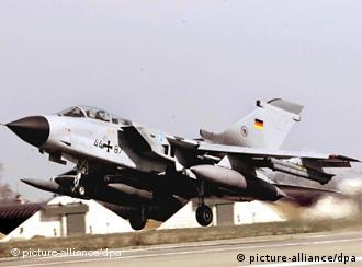 A German Tornado fighter plane