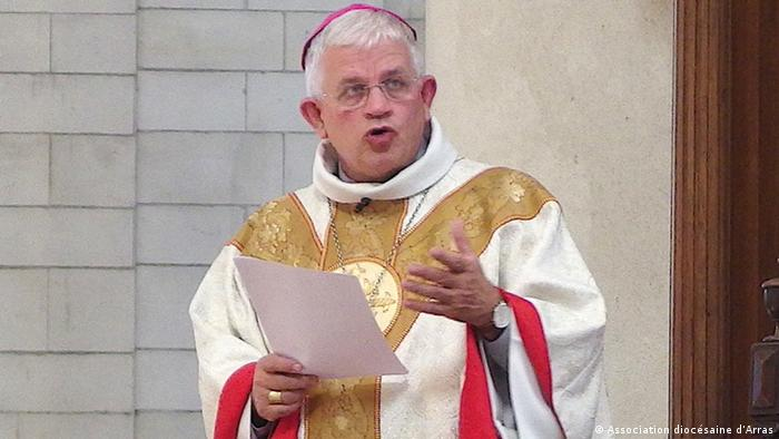 Archbishop Leborgne speaking in church