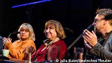 Diskussion mit Schriftstellerin Swetlana Alexiewitsch am Deutchen Theater. Berlin, 10.10.21