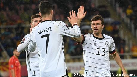 Germany win in wet Skopje to secure 2022 World Cup spot