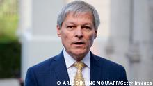 Renew Europe group president Dacian Ciolos talks to the press as he arrives for an European Union Summit at European Union Headquarters in Brussels on October 17, 2019. (Photo by ARIS OIKONOMOU / AFP) (Photo by ARIS OIKONOMOU/AFP via Getty Images)