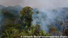 PORTO VELHO, RO - 07.09.2021: QUEIMADAS NA AMAZÔNIA - Burning of the Amazon Forest, in the city of Porto Velho, in the state of Rondônia, on Tuesday (7) afternoon. In June, the federal government issued a decree banning burning throughout Brazil for 120 days. (Photo: Fernando Souza/Fotoarena)