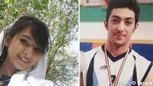 Arman Abdolali ist ein minderjähriger der seine Freundin, Ghazaleh (links im Foto) getötet hatte und zum hinrichtung verurteilt wurde