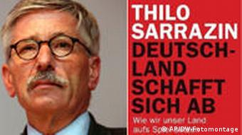 Thilo Sarrazin and the title page of his new book