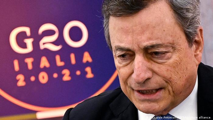 Italien Rom   Virtueller G20-Sondergipfel   Mario Draghi